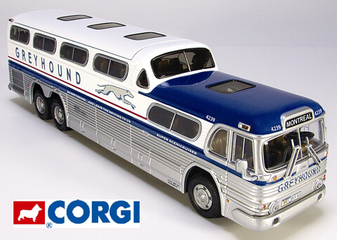 Corgi Greyhound Bus